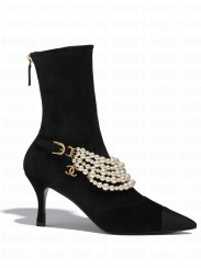 Chanel Women's Ankle Boots Black