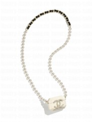 Chanel Airpods Case Pro Necklace AB6425 Cream