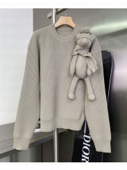 Louis Vuitton Women's Stitched Teddy Pullover Gray