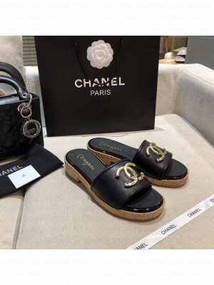 Chanel Women's Mules Leather Spring/Summer 2021 Collection Black