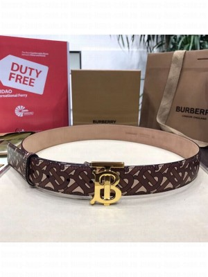Burberry Monogram Print Belt 35mm with B Buckle 2019 Collection
