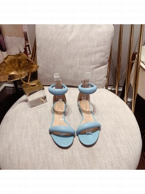 Gianvito Rossi BIJOUX 05 leather Flat Sandals Spring/Summer 2021 Collection Blue