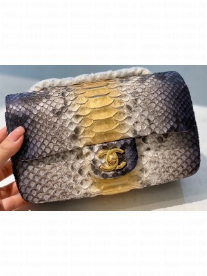 Chanel Python Classic Flap Small Bag A1116 10