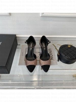 Chanel Wedge With gold & white Crystal 2021 Collection