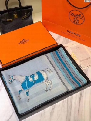 Hermes Shawl in cashmere and silk 140 x 140cm 2021 H46