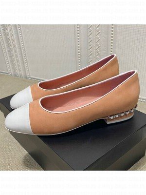 Chanel Suede Chain Ballerinas Pastel Apricot Spring/Summer 2021 Collection