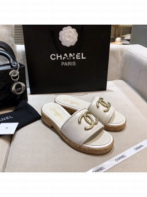 Chanel Women's Mules Leather Spring/Summer 2021 Collection White