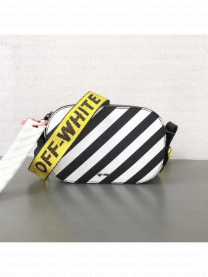Off-White Leather Black Diagonals Camera Bag 2018 Collection