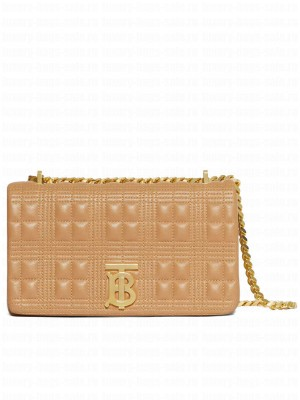 Burberry Small Quilted Lambskin Lola Bag Apricot