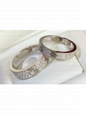 Cartier Love Ring diamond-paved White Gold