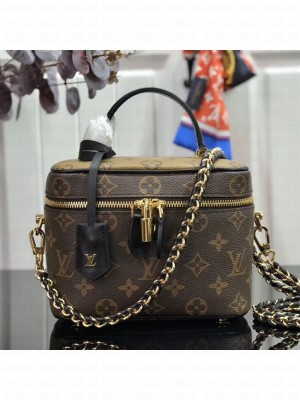 Louis Vuitton Monogram Canvas Flap Cosmetic Top Handle Bag M42264 Coffee 2019 Collection