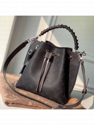 Louis Vuitton Muria Mahina Monogram Perforated Leather Bucket Bag M55801 Black 2019 Collection