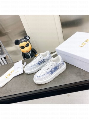 DIOR ADDICT SNEAKER French Blue Toile de Jouy Technical Fabric 2021 Collection