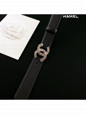 Chanel Calfskin Belt 3cm with Star CC Buckle Black  2021 Collection 03