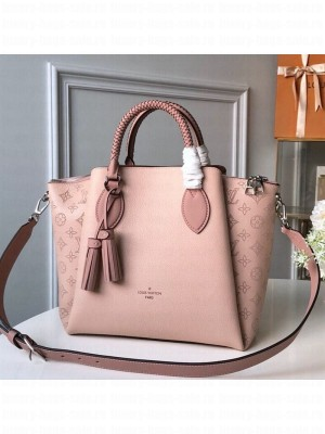 Louis Vuitton Haumea Mahina Perforated Leather Top Handle Bag M55030 Pink 2019 Collection