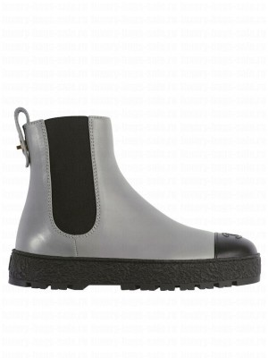 Chanel Women's Ankle Boots Gray