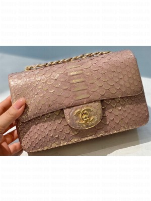 Chanel Python Classic Flap Small Bag A1116 03