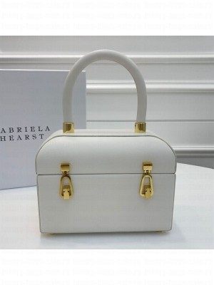 Gabriela Hearst Patsy Calfskin Small Box Top Handle Bag 3994 White 2019 Collection