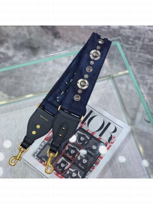 Dior Blue Camouflage Fully Embroidered Canvas Shoudler Strap 2019 Collection