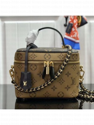 Louis Vuitton Monogram Canvas Flap Cosmetic Top Handle Bag M42264 Yellow 2019 Collection