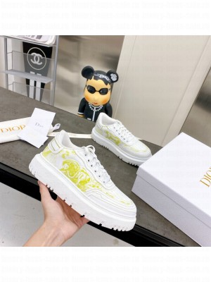 DIOR ADDICT SNEAKER Lime Toile de Jouy Technical Fabric 2021 Collection