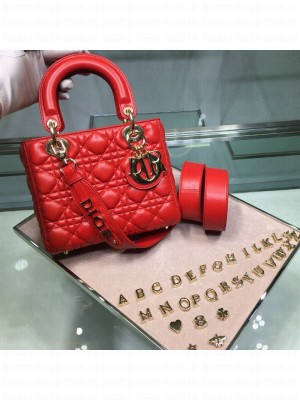 Dior MY ABCDior Medium Bag in Cannage Leather Red 2019 Collection