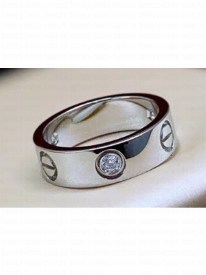 Cartier Love Ring with 1 Diamond White Gold
