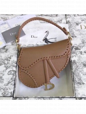 Dior Saddle Medium Bag in Braided Leather Brown 2019 Collection