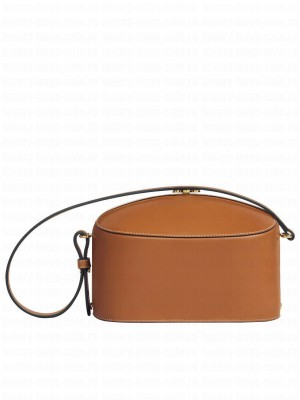 Celine Lunch Box In Natural Calfskintan Coffee