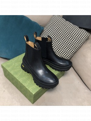 JIL SANDER Outdoor elastic-sided chelsea boots with Vibram sole Black 2021 Collection