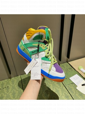 Gucci Unisex Basket High-Top Sneakers 04 2021 Collection