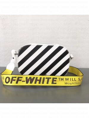Off-White Leather White Diag Camera Bag 2018 Collection