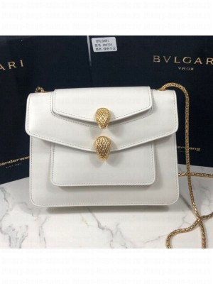 Bvlgari x Alexander Wang Serpenti Forever Shoulder White 2019 Collection