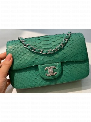 Chanel Python Classic Flap Small Bag A1116 14