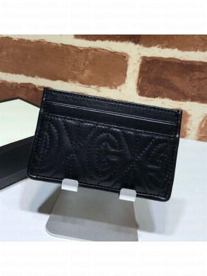 Gucci Quilted Leather Card Case 597628 Black 2019 Collection