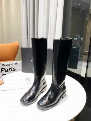 Chanel Calfskin 3cm Black Long Boots 01 2021 Collection