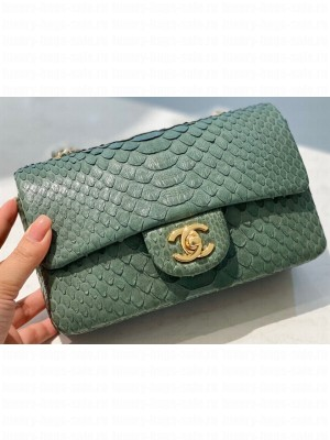 Chanel Python Classic Flap Small Bag A1116 13