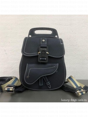Dior Men's Small Saddle Homme Backpack Dark Blue 2019 Collection