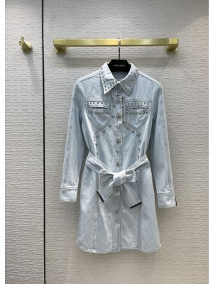 Louis Vuitton 1A9BC9 WESTERN WASHED DENIM SHIRT DRESS 2021 Collection