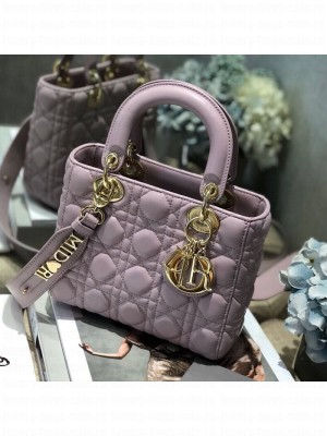 Dior MY ABCDior Medium Bag in Cannage Leather Light Purple 2019 Collection