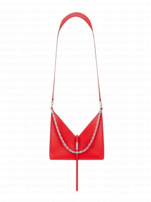 Givenchy Small CUT-OUT Chain Handbag Red