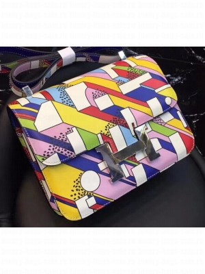 Hermes Constance 24 Bag in Summer Day Swift Leather