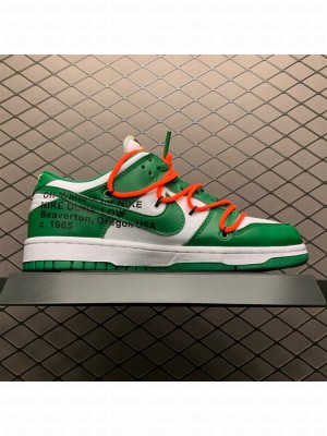 Off-White x Futura x Nike SB Dunk Low in White/Pine Green  2020 Collection