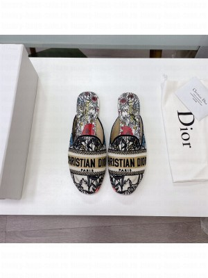 Dior Off Mules Embroidered Cotton 2021 Collection 10