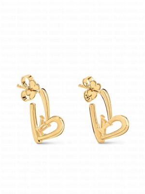 Louis Vuitton Limited Edition - Fall In Love Heart Earrings PM M00463 Golden