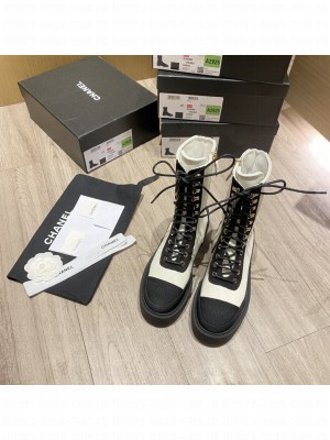 Chanel Calfskin Lace-up Martin boots 03 2021 Collection