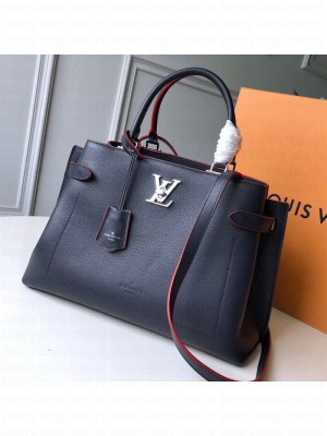 Louis Vuitton Lockme Day Tote Bag M53645 Navy/Red 2019 Collection
