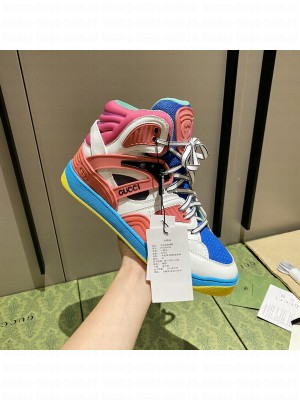 Gucci Unisex Basket High-Top Sneakers 03 2021 Collection