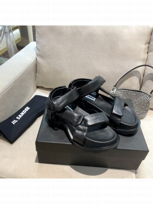 JIL SANDER Outdoor platform sandals with cleated rubber sole Black 2021 Collection