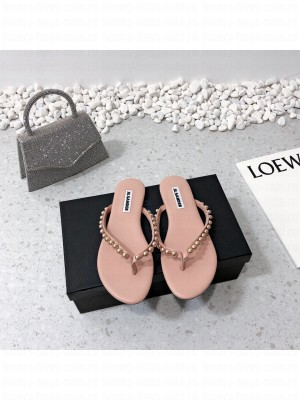 JIL SANDER Thong sandals with Gold Steel ball Pink 2021 Collection
